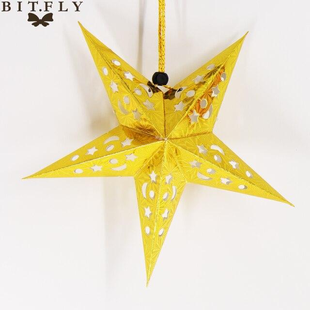 Фото новинка 30 см подвесные 3d бумажные звезды bitfly для творчества