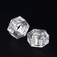 M3  Plastic Nut transparent nut / Polycarbonate PC