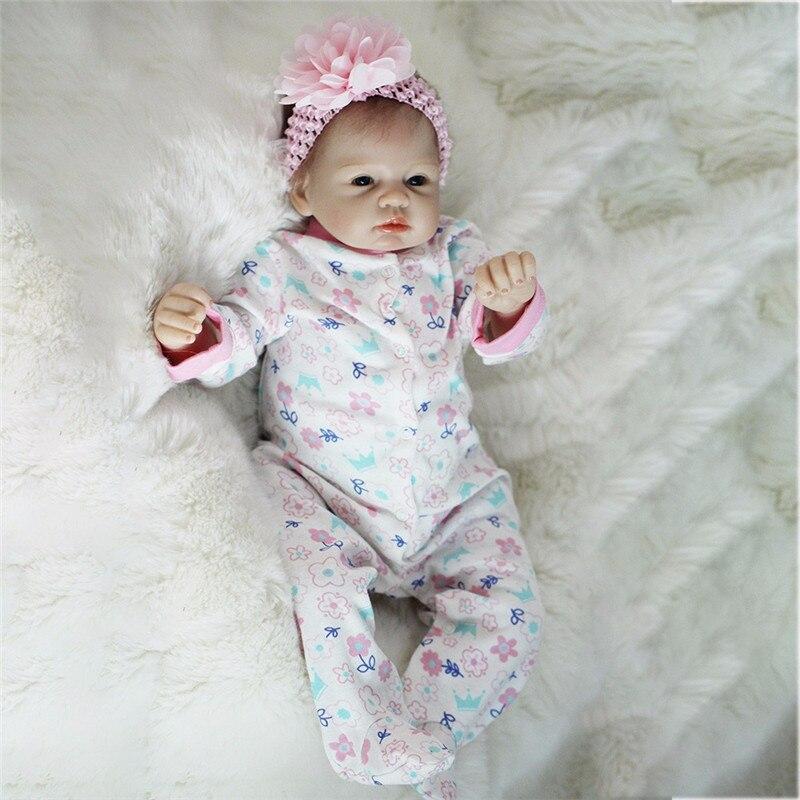 Bebe Reborn 22 pouces Silicone souple vinyle poupées 55cm Reborn bébé poupée nouveau-né réaliste Bebe Reborn poupées cadeau d'anniversaire
