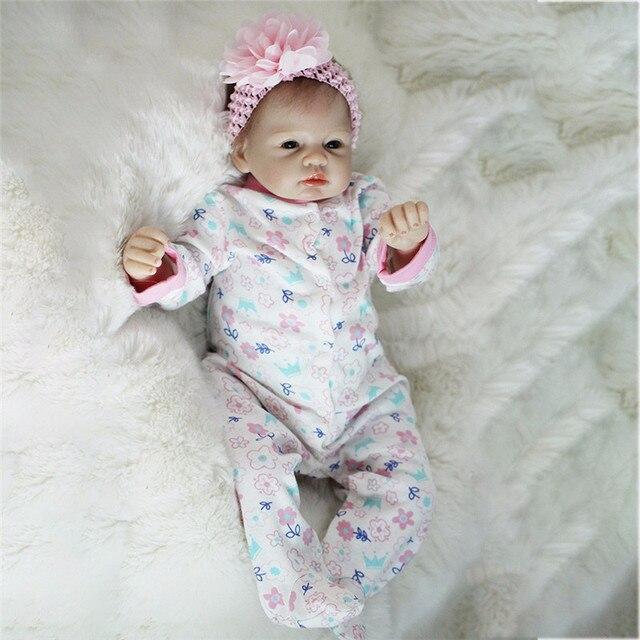 비비 다시 태어난 22 inch 부드러운 실리콘 비닐 인형 55cm 다시 태어난 아기 인형 신생아 살아있는 bebe reborn 인형 생일 선물