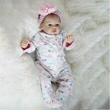 Bebe Reborn 22 inç yumuşak silikon vinil bebekler 55cm Reborn bebek bebek yenidoğan gerçekçi Bebe Reborn bebek doğum günü hediyesi