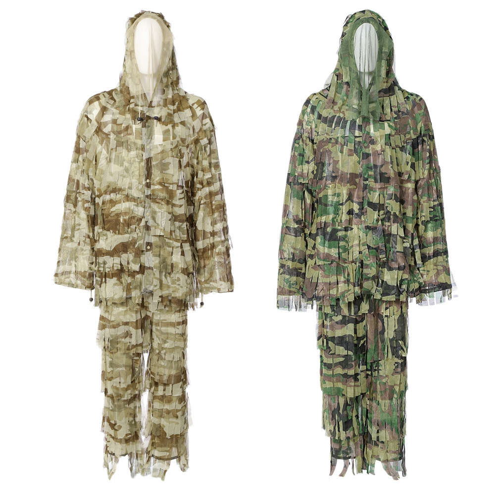 c3f5d7f6e05 Detail Feedback Questions about 3D Camo Bionic Leaf Camouflage Jungle  Hunting Ghillie Suit Set CS Savage Kit Desert strip camouflage Suit  Invisible suit on ...