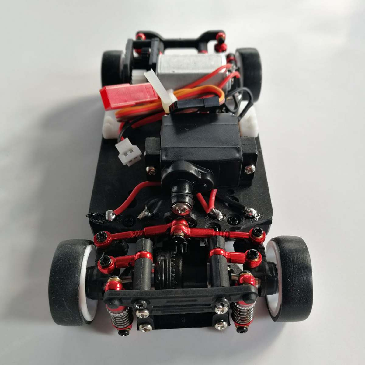 1:28 IW05 4WD Drift Meatl RC Racing Car Drive Shft Frame Kit Chassis Trauck Body Parts Accessories Remote Control Toys