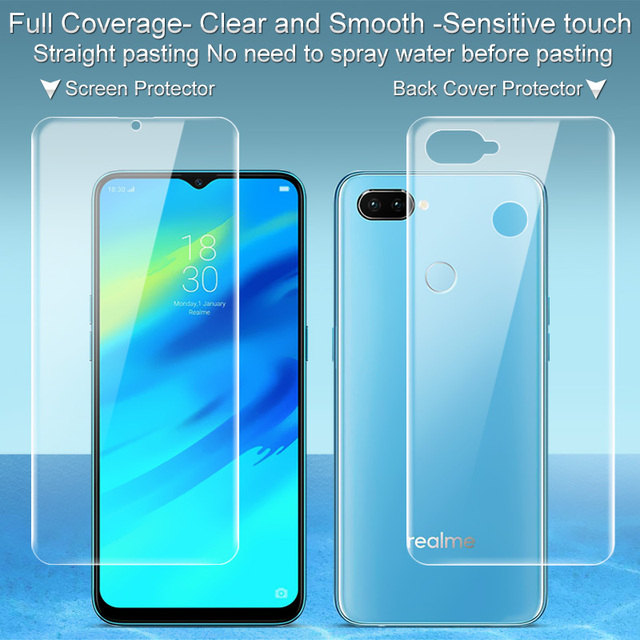 ba5f0d67f 2PCS Full coverage for OPPO Realme 2 Pro Realme2 Pro Screen protector and Back  cover protector