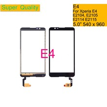 10Pcs/lot Touchscreen For Sony Xperia E4 E2104 E2105 Dual E2114 E2115 E2124 Touch Screen Digitizer Front Glass Panel Sensor для sony xperia e4 dual e2104 e2105 стекло экран протектор фильм для sony xperia e4 dual e2104 e2105 e2114 e2115 стекло экран прот