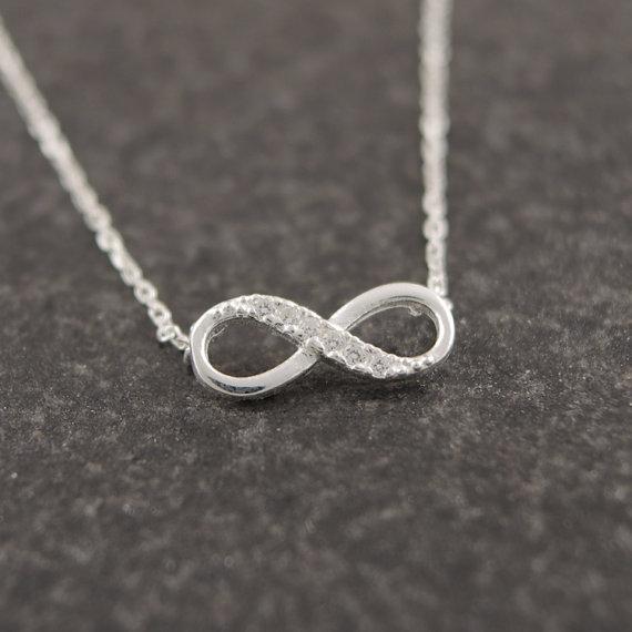 Shuangshuo minuscule infini cristal pendentif colliers pour femmes tour de cou chanceux numéro huit géométrique longue chaîne collier