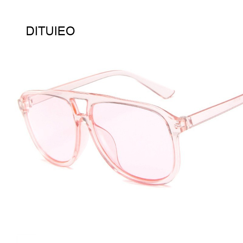 Fashion Colorful Sun Glasses Women Pilot Sunglasses Brand Designer Vintage Transparent Red Glasses Lady Unisex Lunettes Oculos