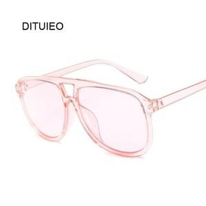 Fashion Colorful Sun Glasses Women Pilot Sunglasses Brand Designer Vintage Transparent Red Glasses Lady Unisex Lunettes Oculos(China)