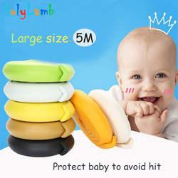 5 м детская защита 2 м Длина настольная защита полосы Детская безопасность Продукты стекло Край Мебель угловая защита детей