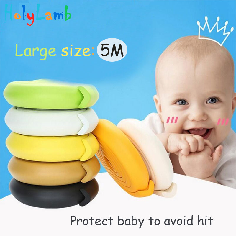 5M Children Protection 2M Length Table Guard Strip Baby Safety Products Glass Edge Furniture Corner Protection Of Children