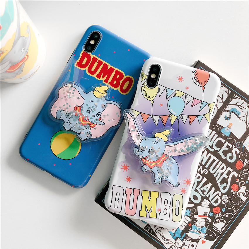 d6039c5624 Silicone Cute Luxury Case For iphone 6 6S 7 8 Plus Phone Cases For iphone X  XR XS MAX Case cartoon dumbo Mickey Minnie Squishy