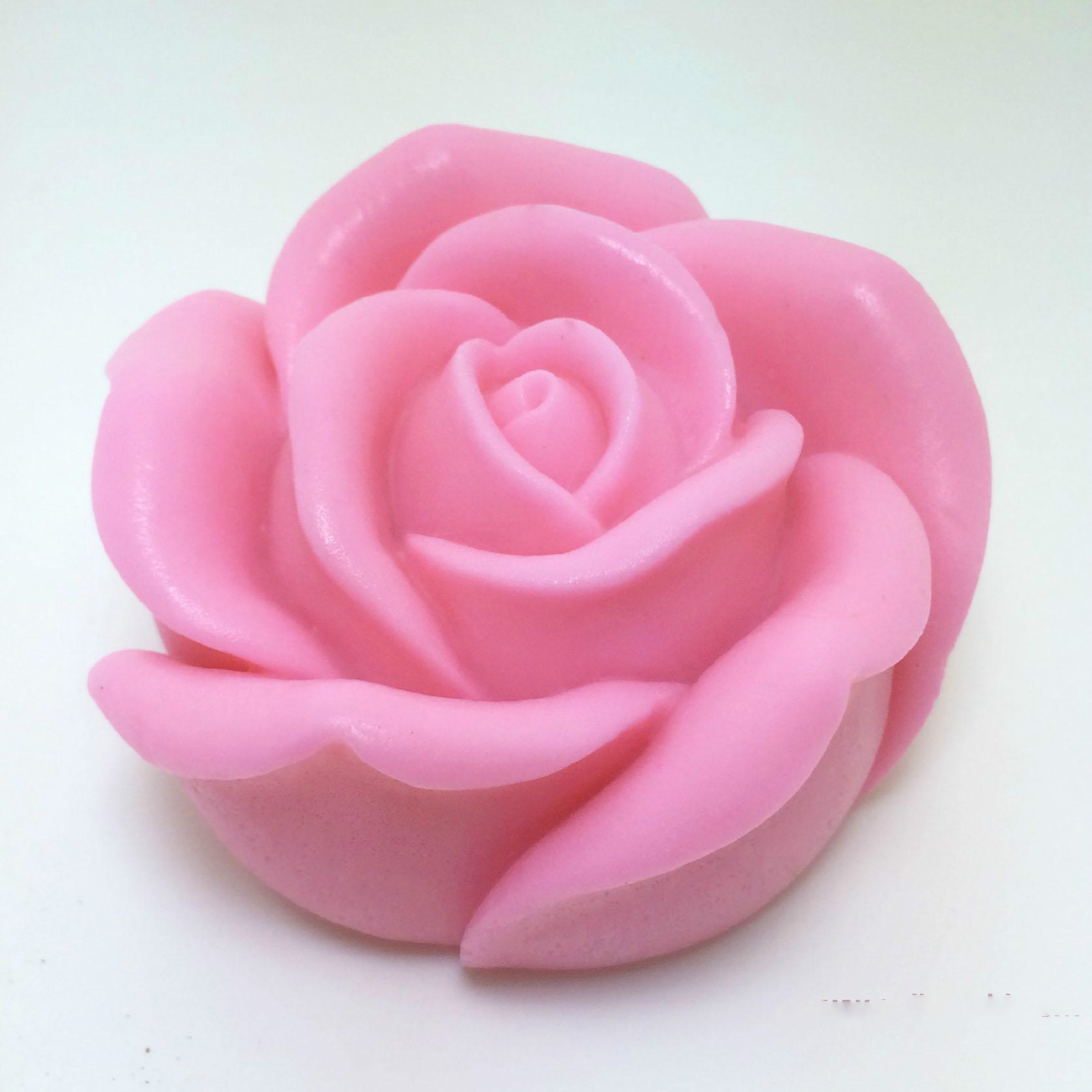 Decorative candles 3D rose flower soap silicone mold handmade Silicon molds for soap making in Soap Molds from Home Garden
