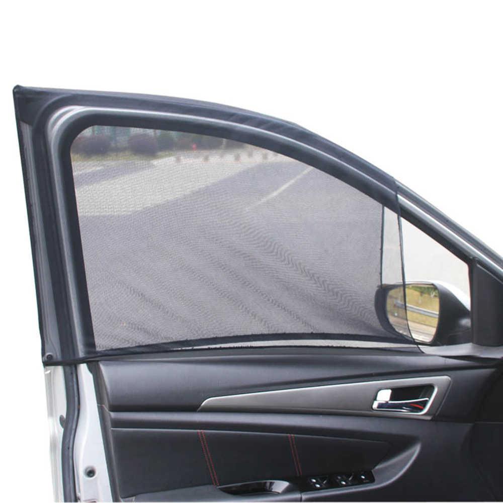2 шт./лот боковое окно автомобиля козырек сетчатый экран солнцезащитный щиток сетка от комаров защита от ультрафиолета комаров Оконные покрытия