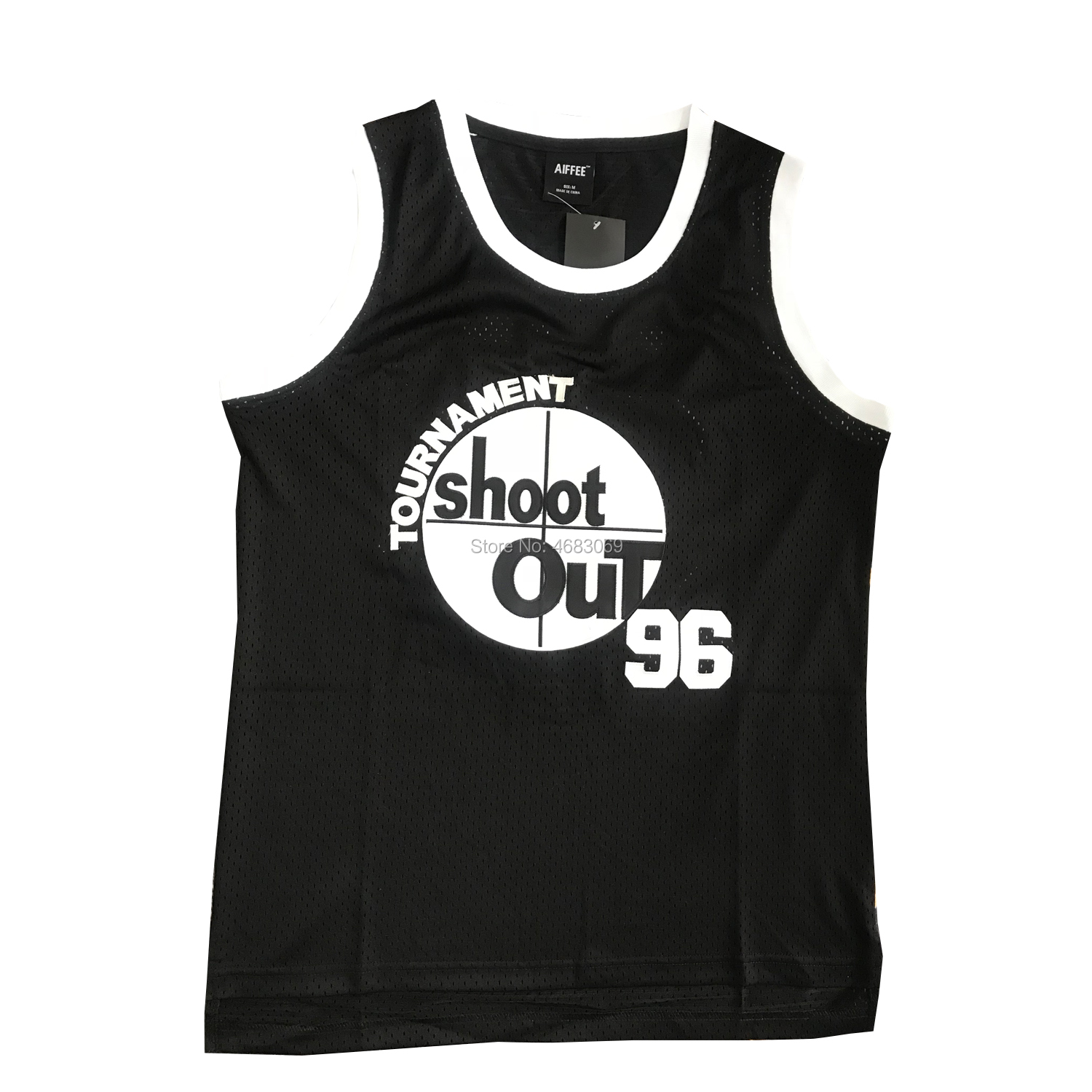 AIFFEE the Rim costume #96 Birdie Shoot out Movie Basketball Jersey 90s Hip Hop Party Clothing Jersey Black US STOCK image