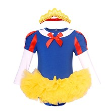 AmzBarley Baby Girls Snow White Princess Puff Sleeve Fancy Dress Up Photography Costume Party Cosplay Little Girl Clothes