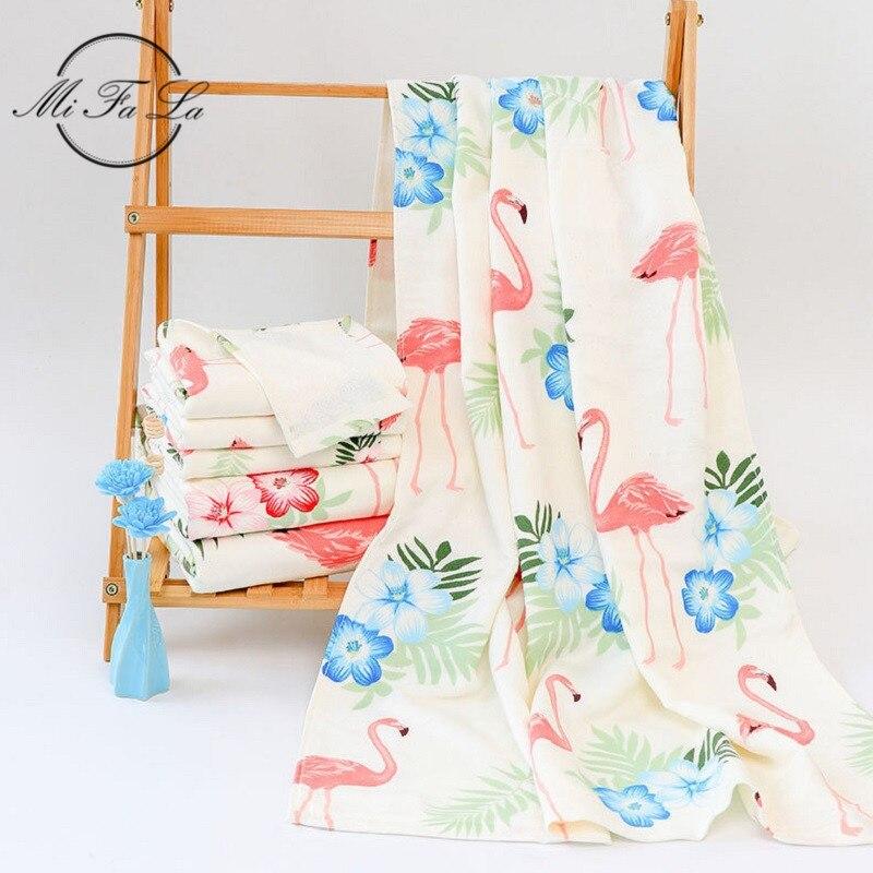 Floral Flamingo Gedruckt Bambus Bad Handtuch Große Frauen Strand Camping Schwimmen Handtücher Familie Dusche Handtücher Bad Toalhas De Banho