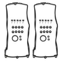 Left + Right Engine Valve Cover Gasket Set Fits For BMW E60 E63 E64 E70 X5 4.4i N62 4.8i 11127513194 11127513195