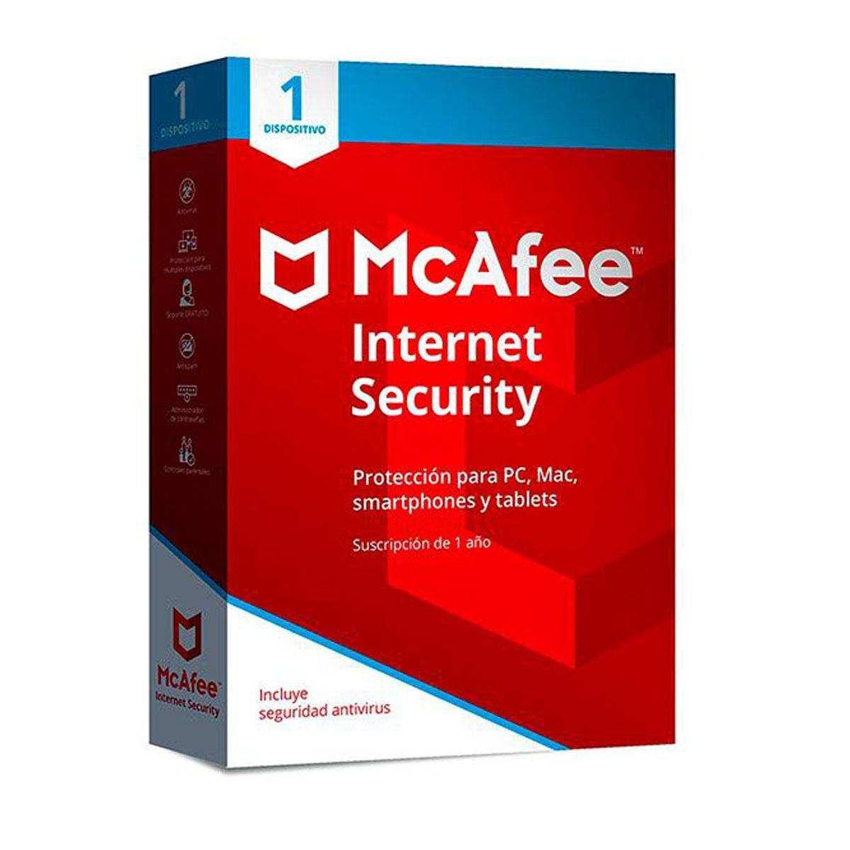 McAfee Internet Security 2018 1 Device 1 Year Format OEM
