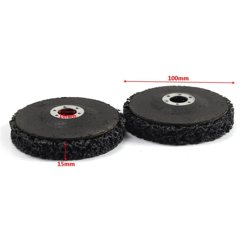 Image 2 - 100x16 мм Поли полосы диск колеса краски удаления ржавчины очистить удалить для угловая шлифовальная машина-in Губки, тряпки и щетки from Автомобили и мотоциклы