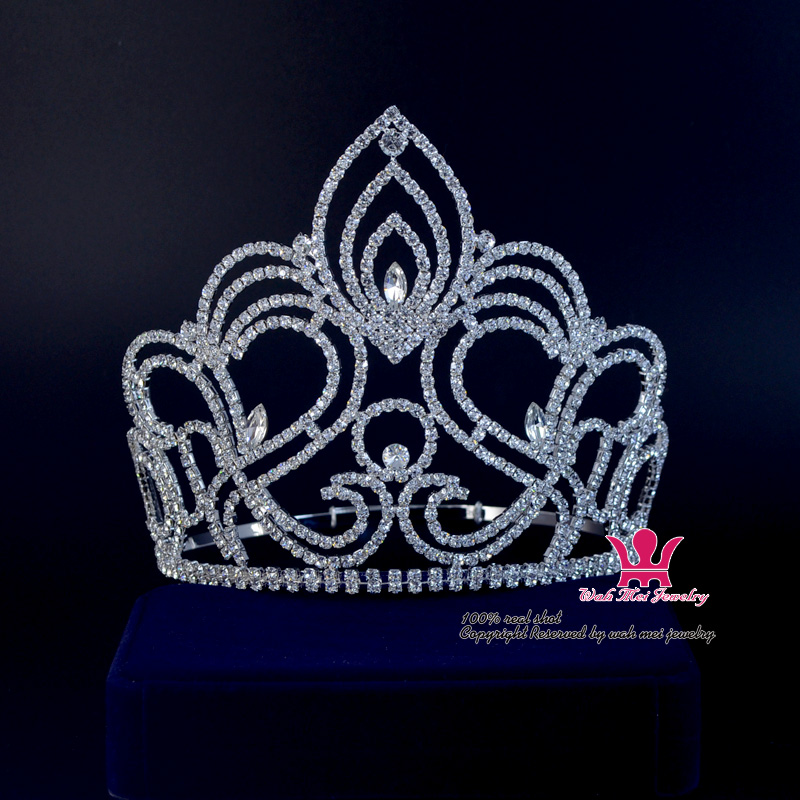 Large Pageant Tiara Crown Miss Beauty Queen Crowns Bridal Wedding Hair Jewelry Princess tiara For Party Prom Night Clup Show