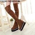 VIGOR/женские ботинки  увеличивающие рост; женские осенние ботинки на платформе и высоком каблуке; зимние ботинки; большие размеры; MY101