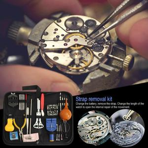 Image 5 - 22pcs 시계 케이스 오프너 밴드 링크 핀 리무버 스크류 드라이버 수리 도구 키트 시계 제조 도구 horloge gereedschap