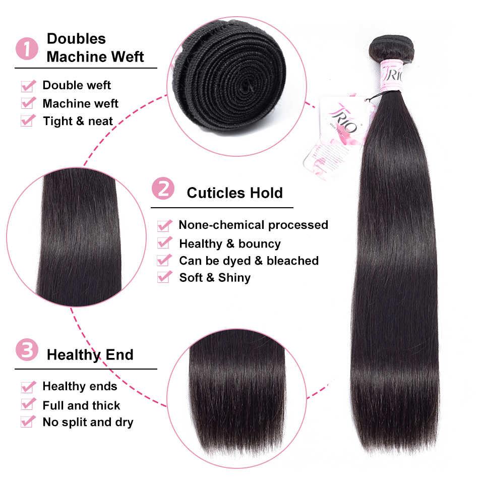 Трио прямые пучки бразильских локонов волос плетение пучки 100% человеческие волосы пучки натуральный цвет не Реми волосы переплетение наращивание