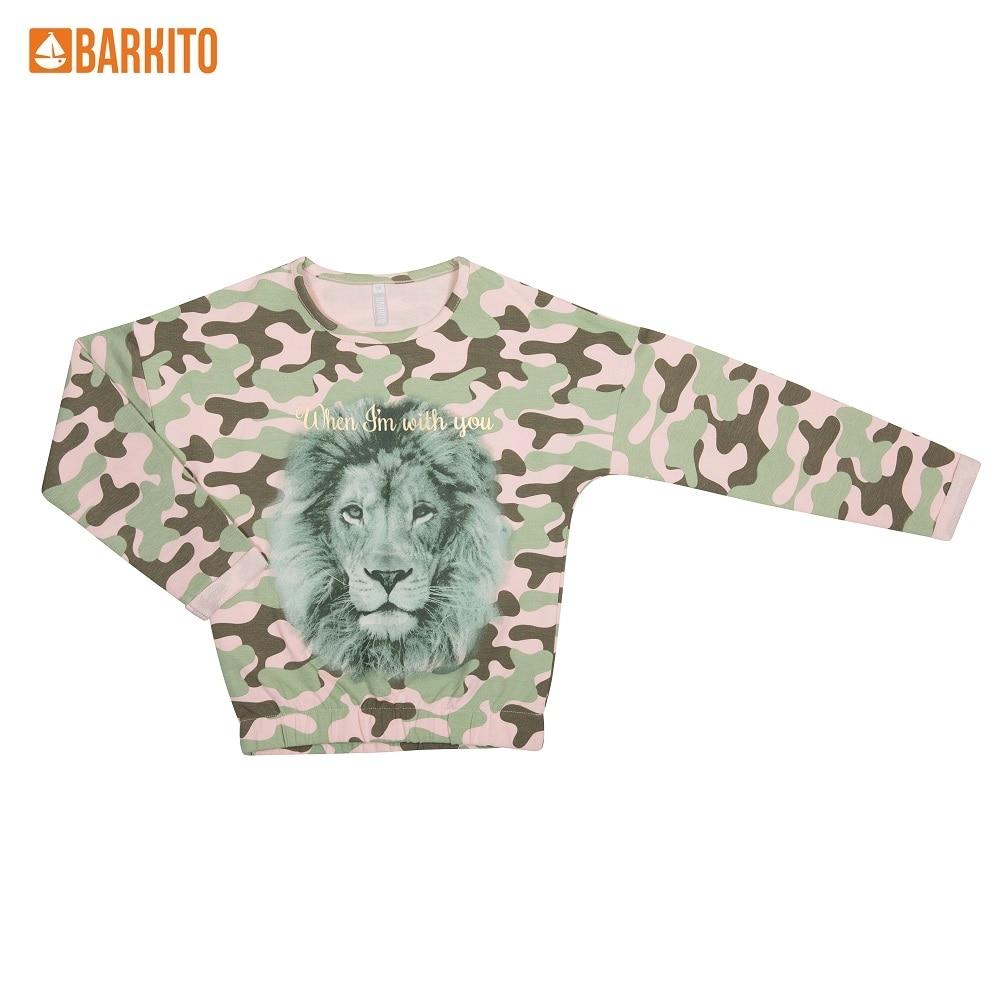 Sweaters Barkito 339039 children clothing Cotton 45A-30011KOR Green Girls Casual толстовки barkito 45a 27041kor