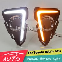 DRL For Toyota RAV4 RAV 4 2016 2017 2018 New LED Car Daytime Running Light Waterproof Driving Fog Lamp With Turn Signal