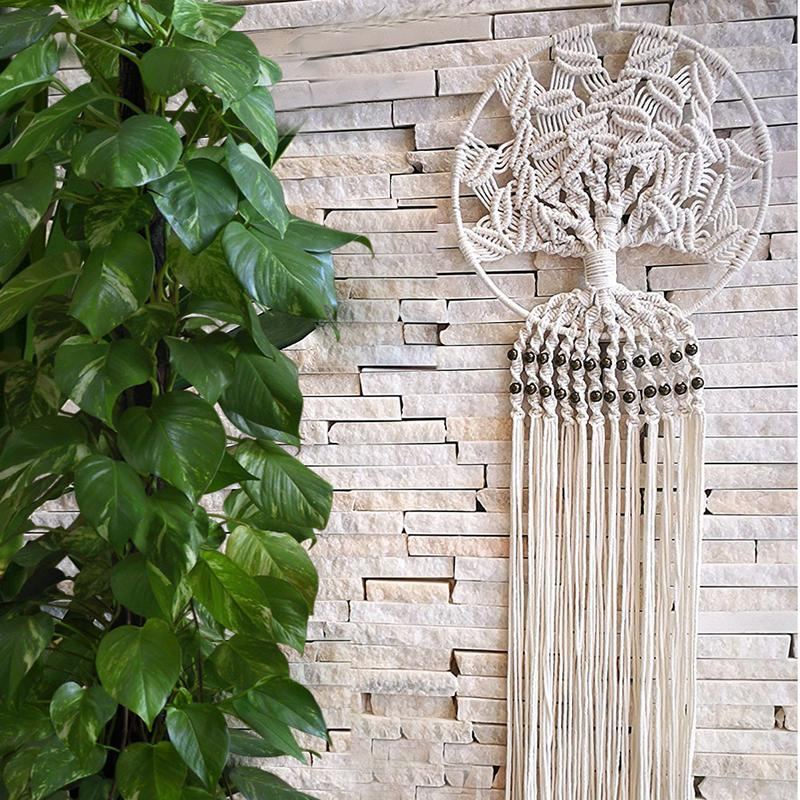 Hand-geweven Dream Catcher Muur Opknoping Home Decor Boho Diameter Decoratie Ornament