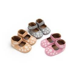 Вышитые детские принцесса обувь, хлопковая ткань младенческой Девочки Первые ходунки милый цветок ребенка малыша обувь