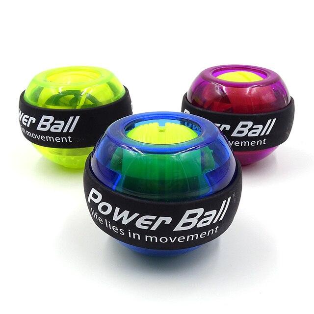 Светодиодный шар для разминки запястий тренажер гироскоп усилитель гироскопа Мощность Мяч Тренажер для рук Мощность Мяч Тренажер оборудов...