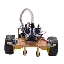 MODIKER Wireless Remote Control Smart Car DIY Kit Infrared Control Robot Car DIY Kit for Arduino High-teach Programmable Toys цена