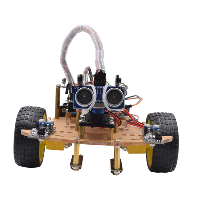 MODIKER Wireless Remote Control Smart Car DIY Kit Infrared Control Robot Car DIY Kit for Arduino High-teach Programmable Toys