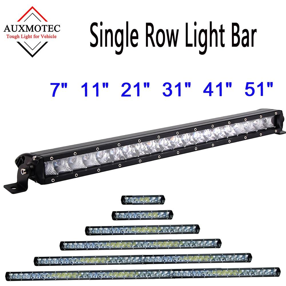 Led Light Bar 30W 50W 100W 150W 200W 250W Offroad Driving Work Lamp 12v 24v Barra Led Lightbar for Off road SUV Truck Pickup 4x4