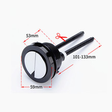 Наружный круглый диаметр 59 мм черная кнопка слива для унитаза, подходит для бака для туалетной воды керамическое отверстие для крышки 48-57 мм, J18267