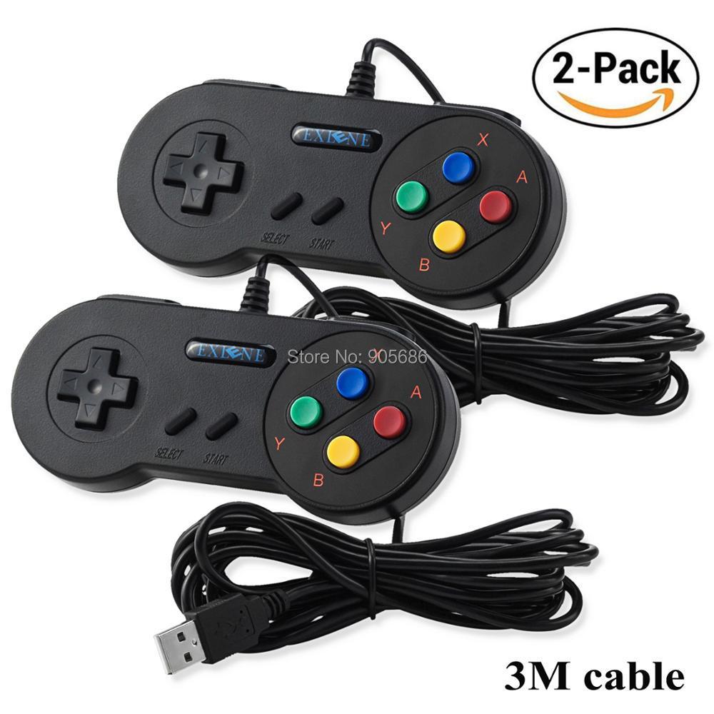 USB PC Super Classic Controller Joypad for Windows PC Mac Linux Raspberry Pi Sega Higan Emulator iNNEXT SNES Retro USB Controller Gamepad Black