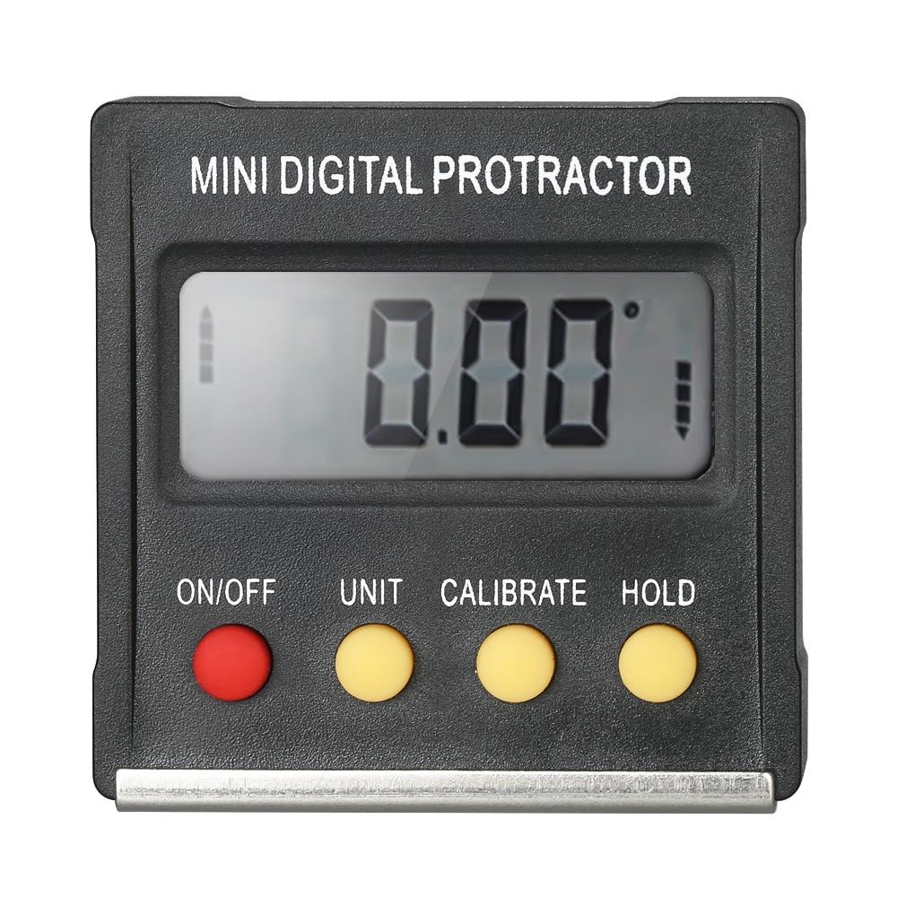Multifuncional Mini pantalla Digital transportador inclinómetro medidor de nivel de 0,1 grado resolución herramienta