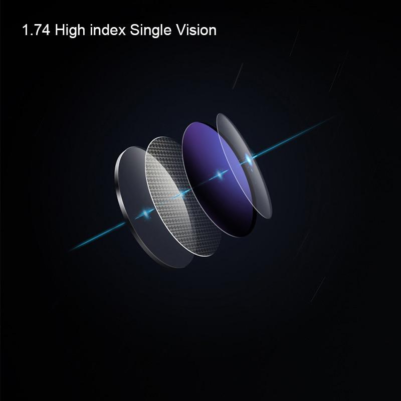 Coyee 1.74 lentille de Prescription à Vision unique à indice élevé pour myopie optique lunettes lunettes pour femmes hommes lunettes
