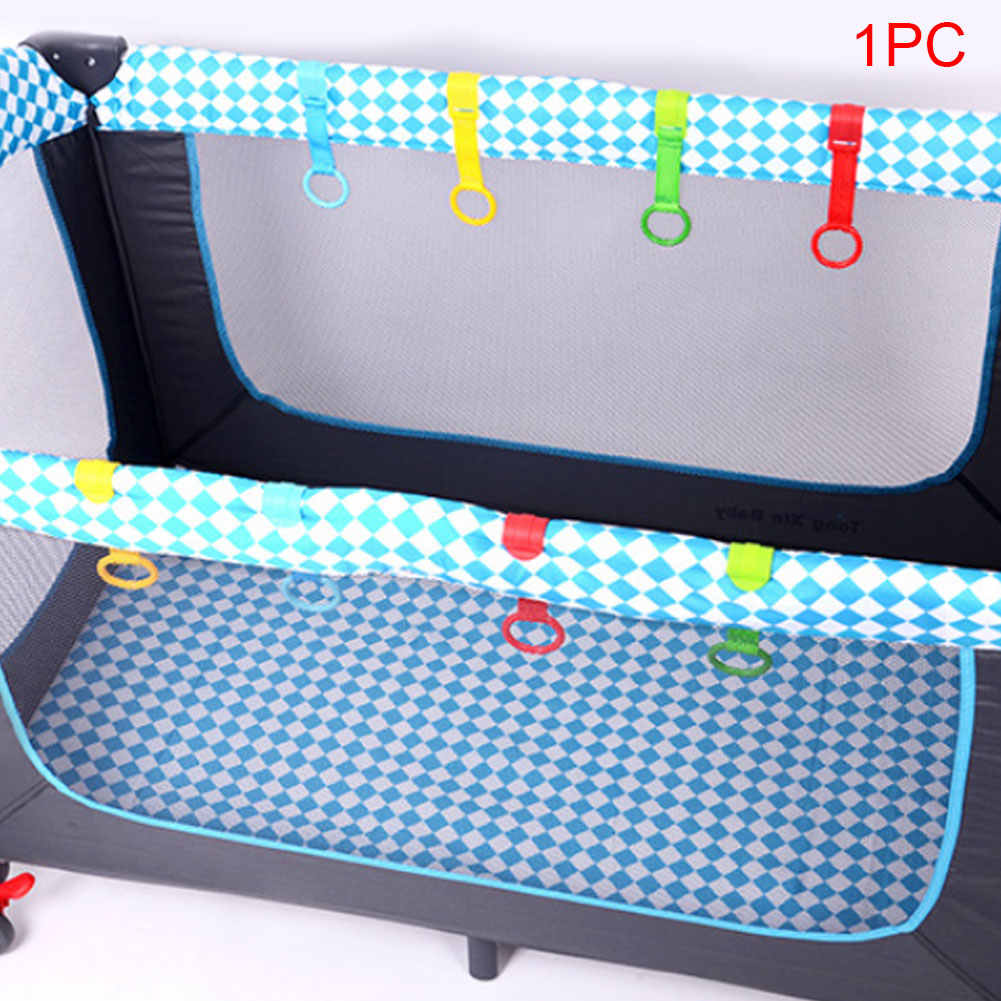 Cama do bebê acordar pingentes brinquedos viagem dobrável puxar anel multi-cor gancho economia de espaço levanta-se casa não-tóxico berço portátil