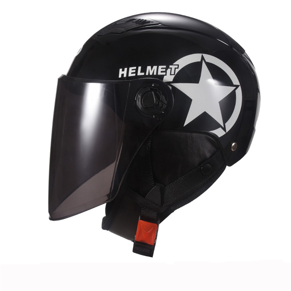 7Color Universal Unisex Motorcycle Scooter Half Face Helmet With Brown Lens Breathable Motocross Helmet Universal Fashion Helmet
