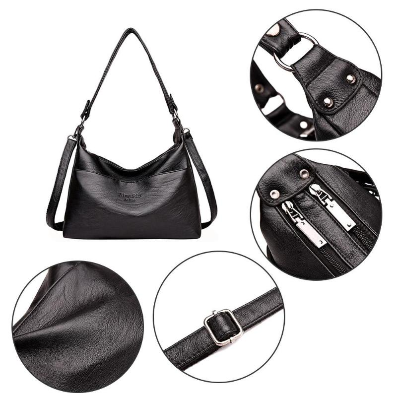 Designer Women Solid Handbag Female PU Leather Bags Handbags Ladies Portable Shoulder Bag Office Ladies Hobos Bag Totes 5