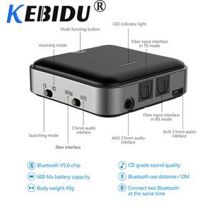 Image 2 - Kebidu 핫 블루투스 5.0 송신기 수신기 무선 aptx hd 광학 toslink 오디오 3.5mm aux/rca & amp 어댑터 tv/헤드폰