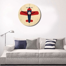Nordic Style Wooden Round Timer Airplane