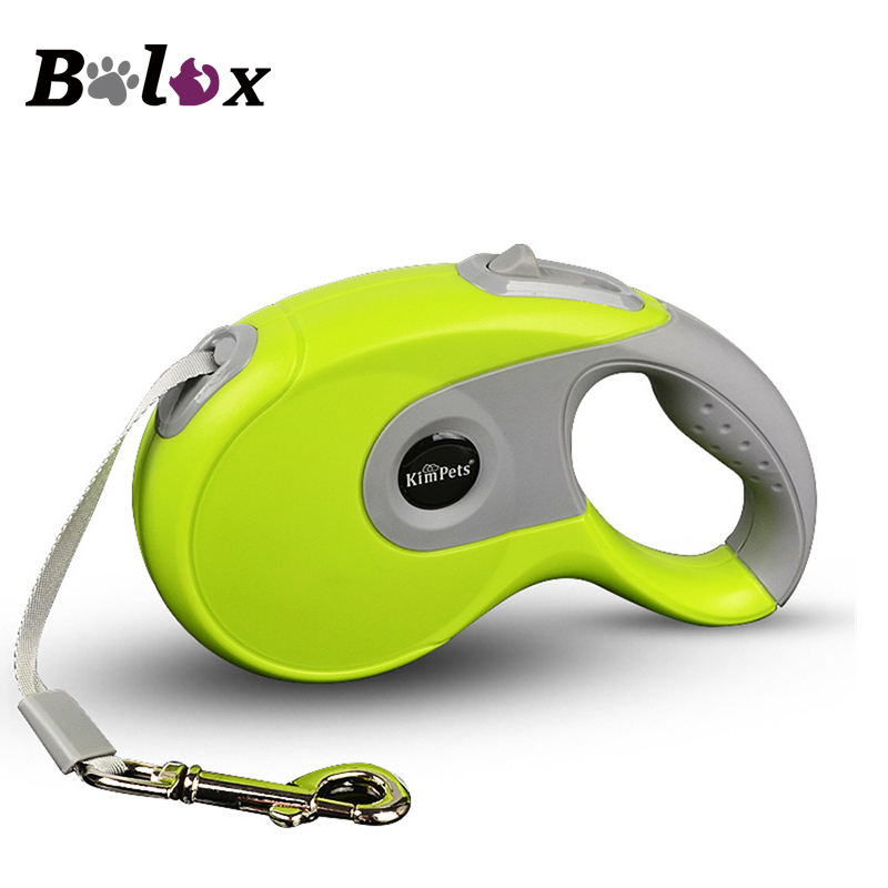 Durable Dog Leash Automatic Retractable Nylon Dog Leash Extending Puppy Walking Running Leads for Small Medium