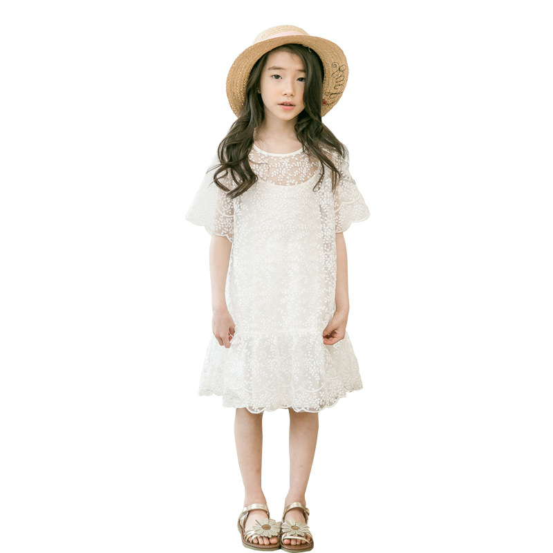 white lace dress 2019 summer embroidered princess costume age for 4- 14 yrs teenage girls graduation party gown big girls frockswhite lace dress 2019 summer embroidered princess costume age for 4- 14 yrs teenage girls graduation party gown big girls frocks