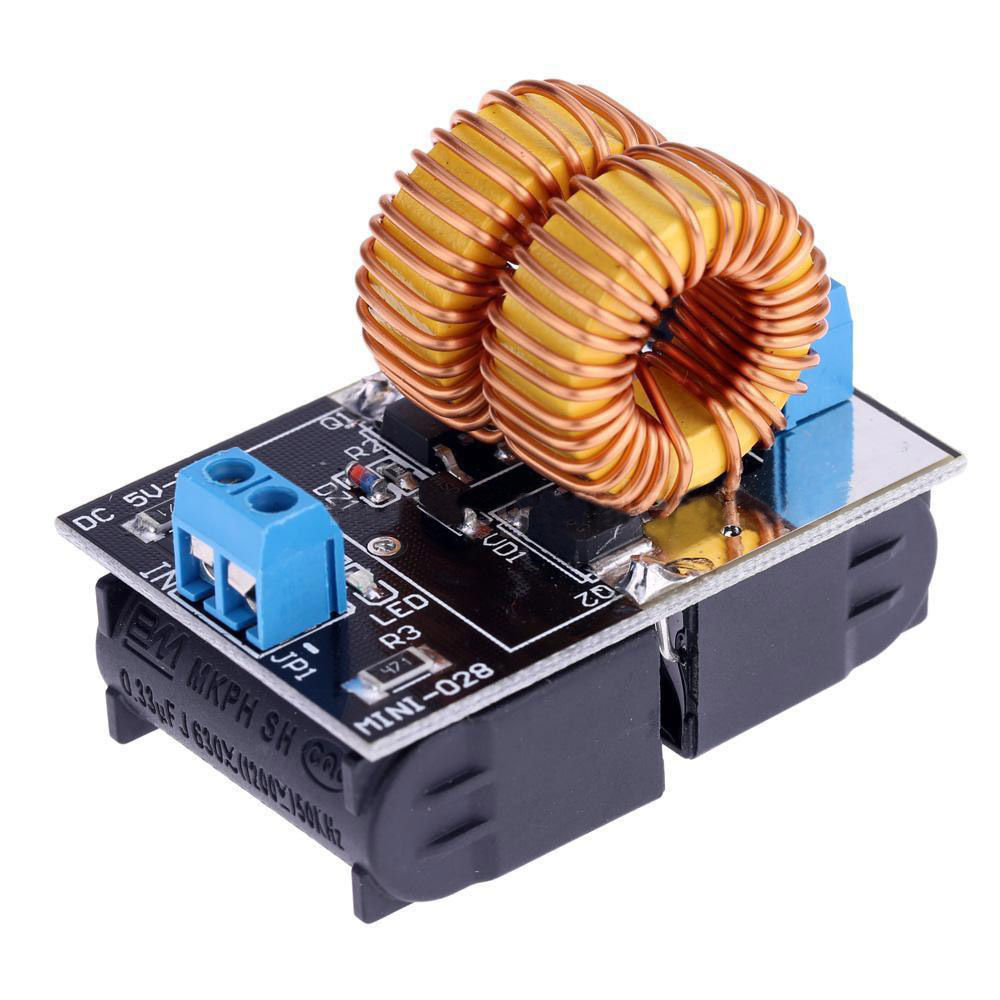 New 5V-12V Low Voltage ZVS Induction Heating Power Supply Module + Heater Coil DT
