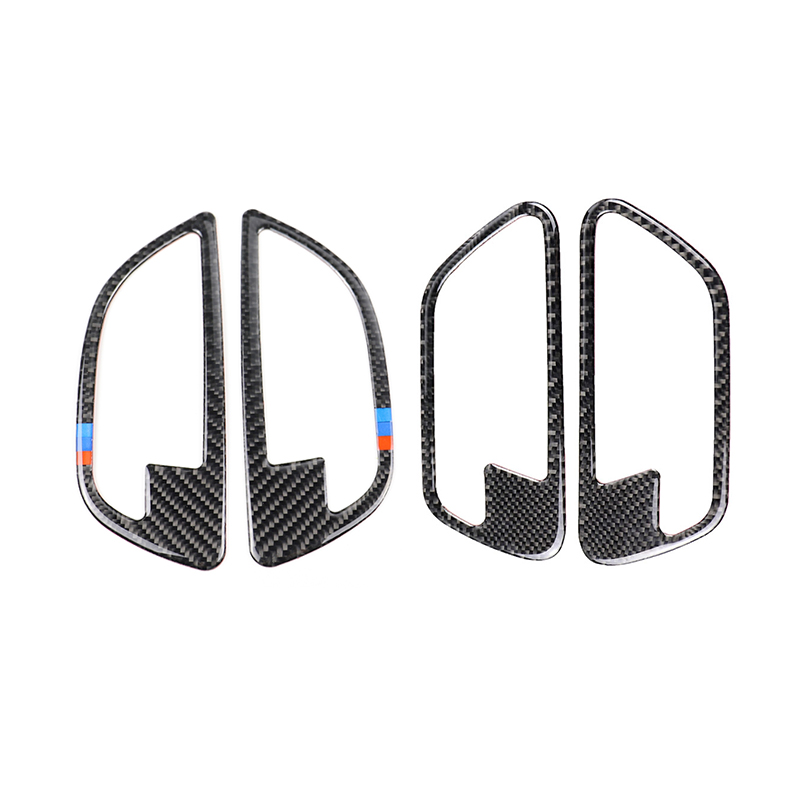 For BMW 5 Series F10 2011 2012 2013 2014 2015 2016 2017 4pcs Carbon Fiber Car Door Handle Door Bowl Cover-in Interior Mouldings from Automobiles & Motorcycles