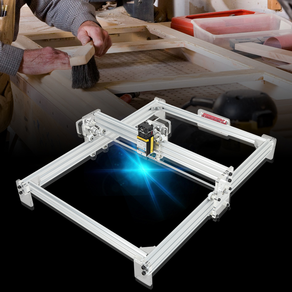 40 X 50cm 2500MW DIY Mini Laser Engraver Machine Wood Router Carving Instrument CNC Laser Engraving Machine For Woodworking