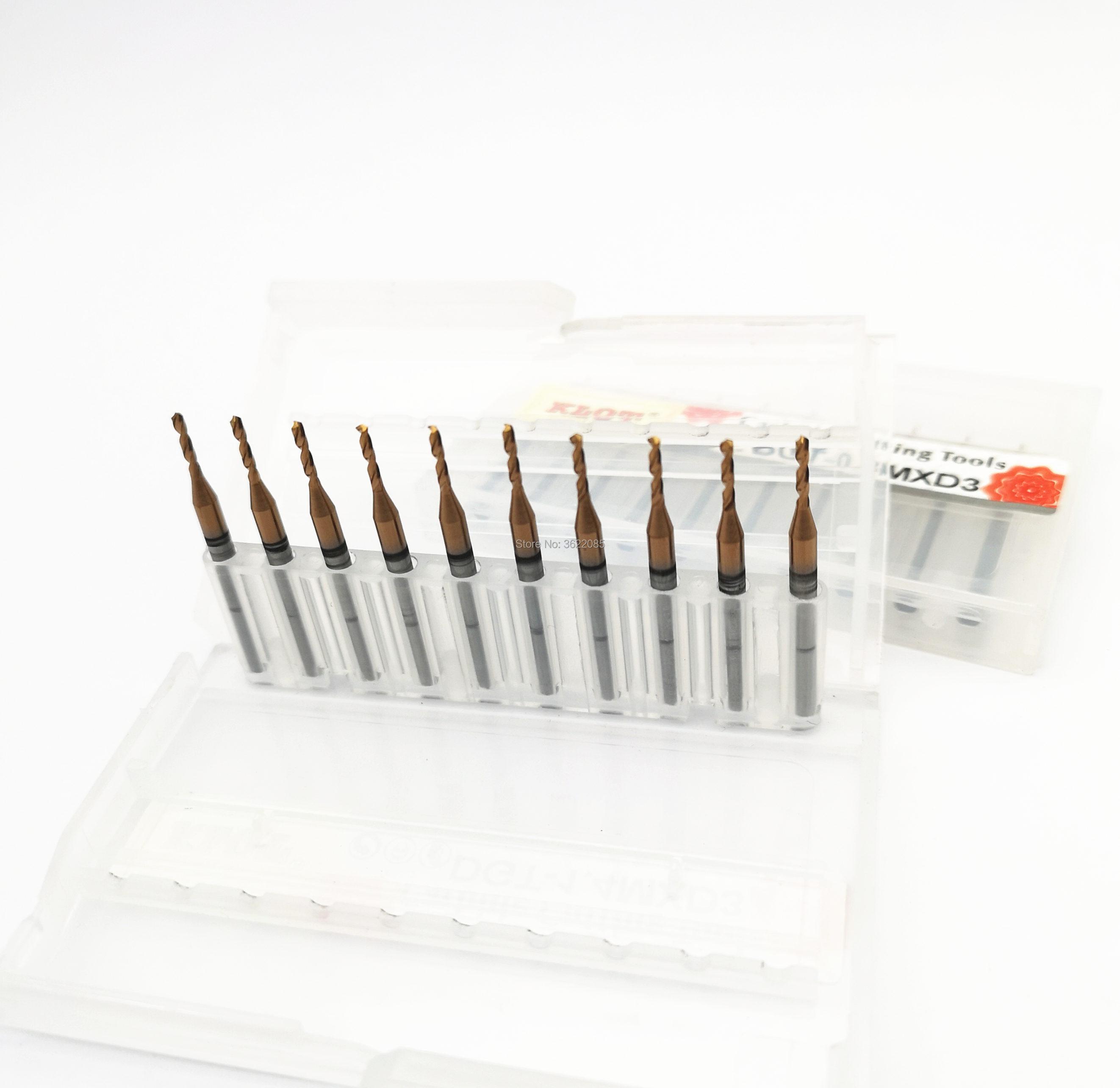 KLOT HRC60 TiCN Coated Solid Carbide Twist Drill Bit Dia 0 3 2 95mm Shank Dia